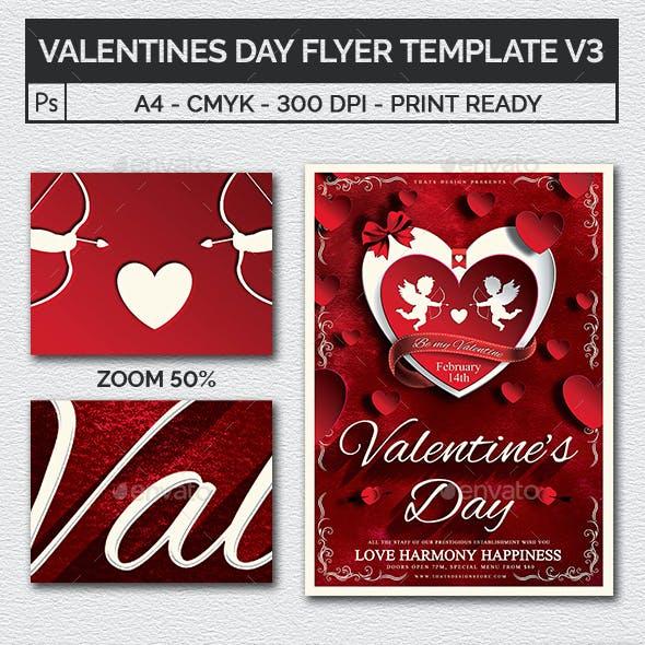 Valentines Day Flyer Template V3