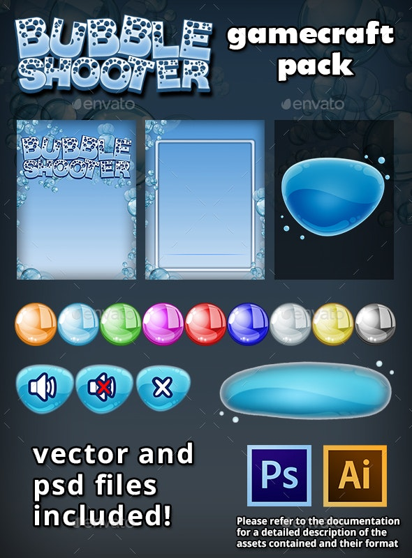 Bubble Shooter Game Assets - Game Kits Game Assets