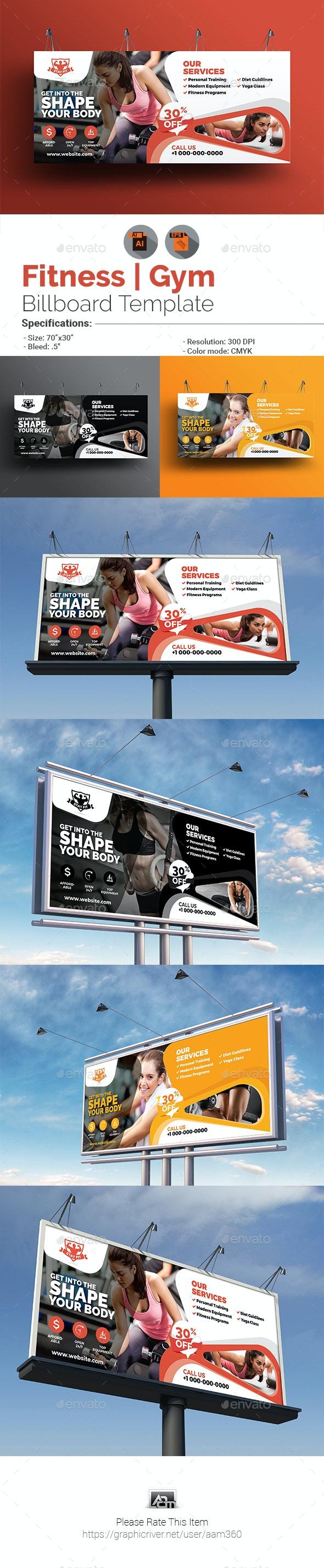 Fitness Billboard Template - Signage Print Templates