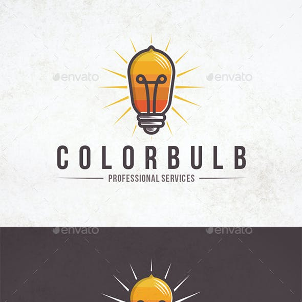 Light Colors Logo Template