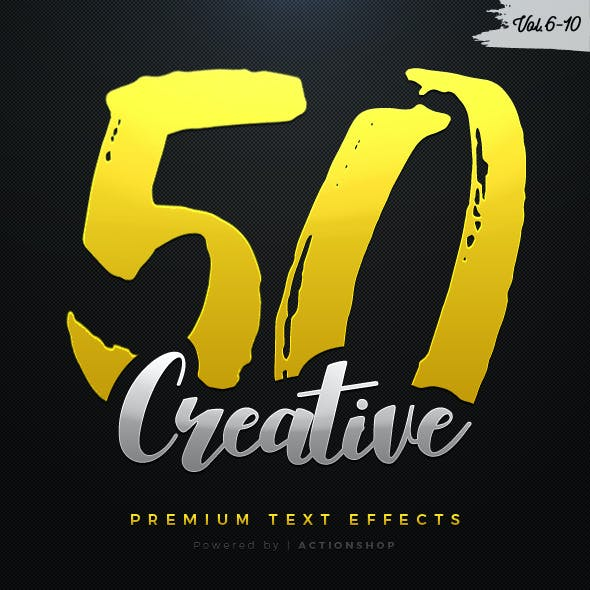50 Creative Text Effects Bundle Two