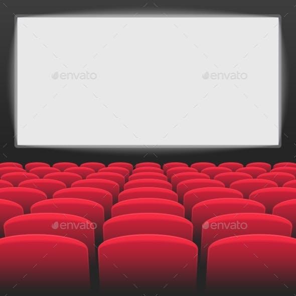 Interior of Cinema Movie Theatre