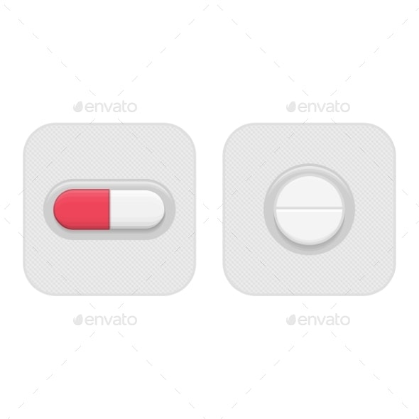 Pill in Blister Pack - Health/Medicine Conceptual
