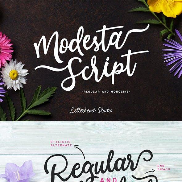 Modesta Script Font duo