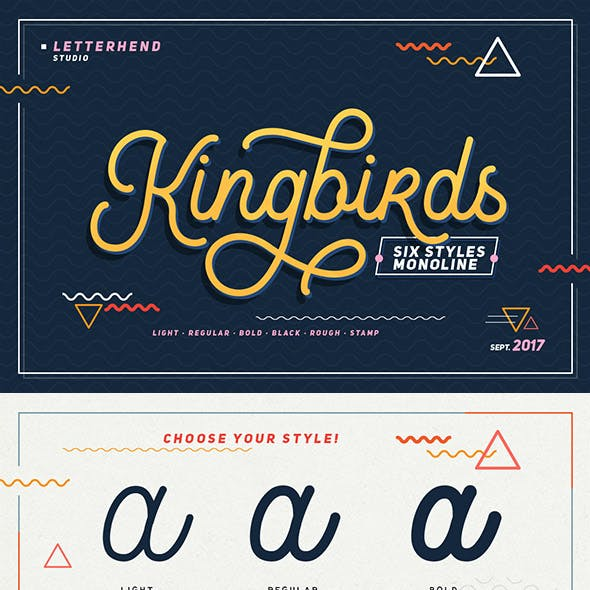 Modern Cursive Fonts from GraphicRiver
