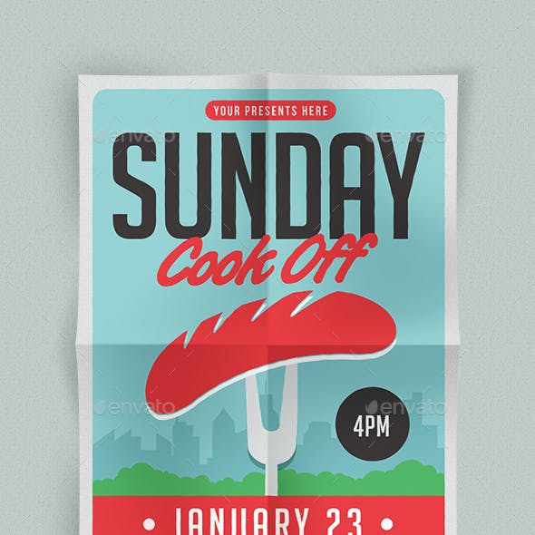 Sunday Cook Off Flyer