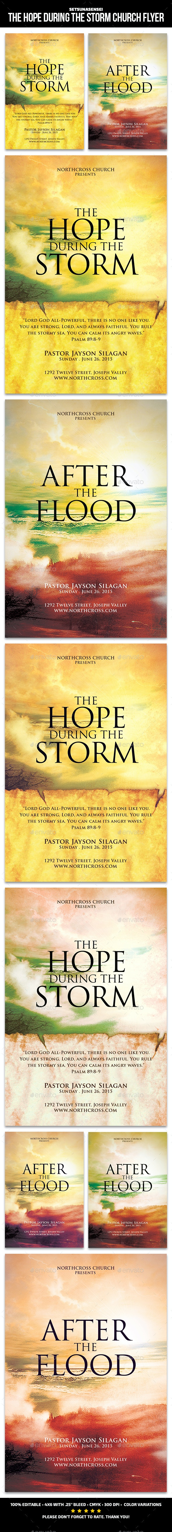 The Hope During the Storm Church Flyer - Church Flyers