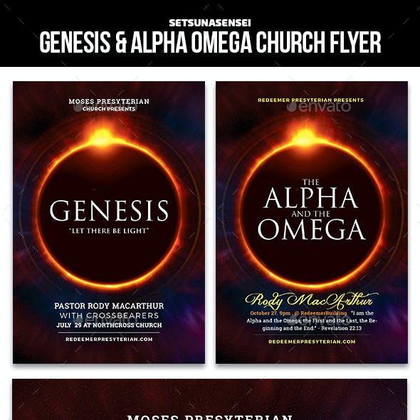 Genesis & Alpha Omega Church Flyer
