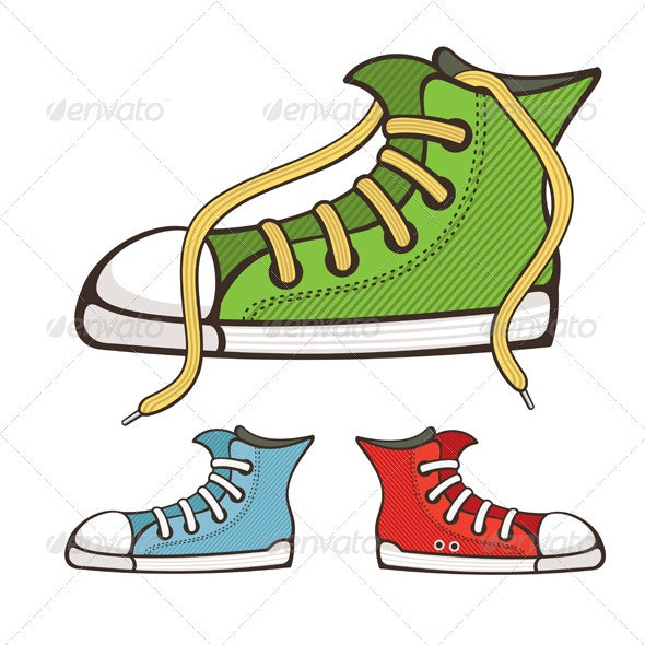 Vector Sneakers - Man-made Objects Objects
