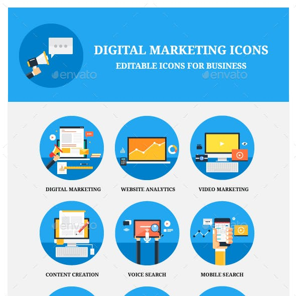 12 Flat Marketing for Web