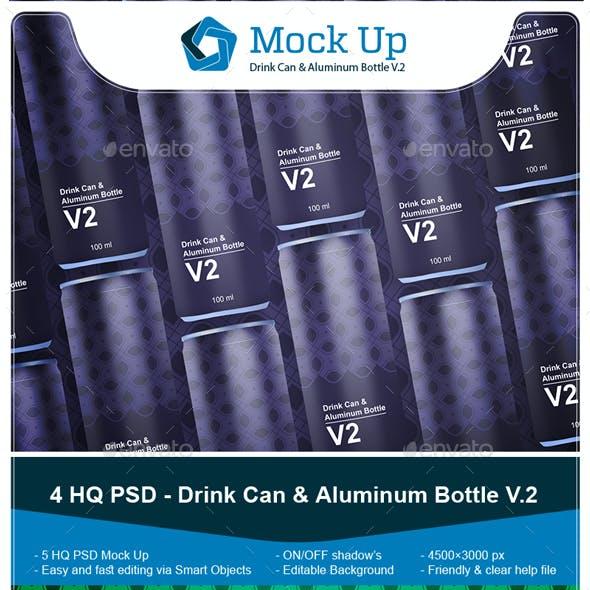 Drink Can & Aluminum Bottle V.2