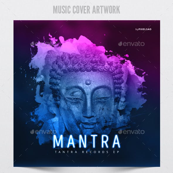Mantra - Music Album Cover Artwork Template
