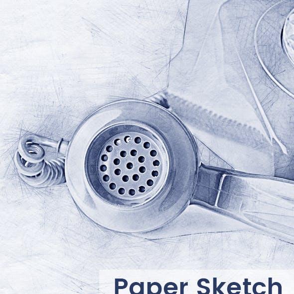 Paper Sketch Photoshop Action
