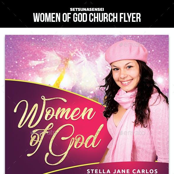 Women of God Church Flyer