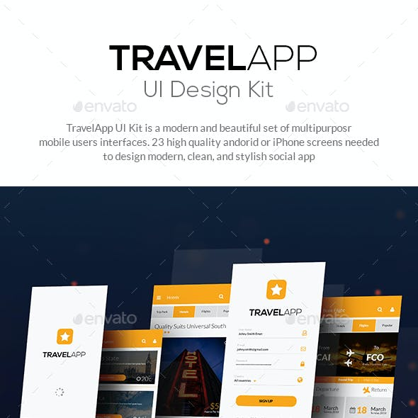Travel, Tour, Hotel Booking Mobile App Mobile UI - Star Travel