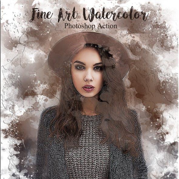 Fine Art Watercolor Photoshop Action