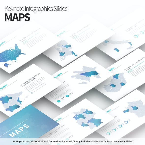 Maps - Keynote Infographics Slides