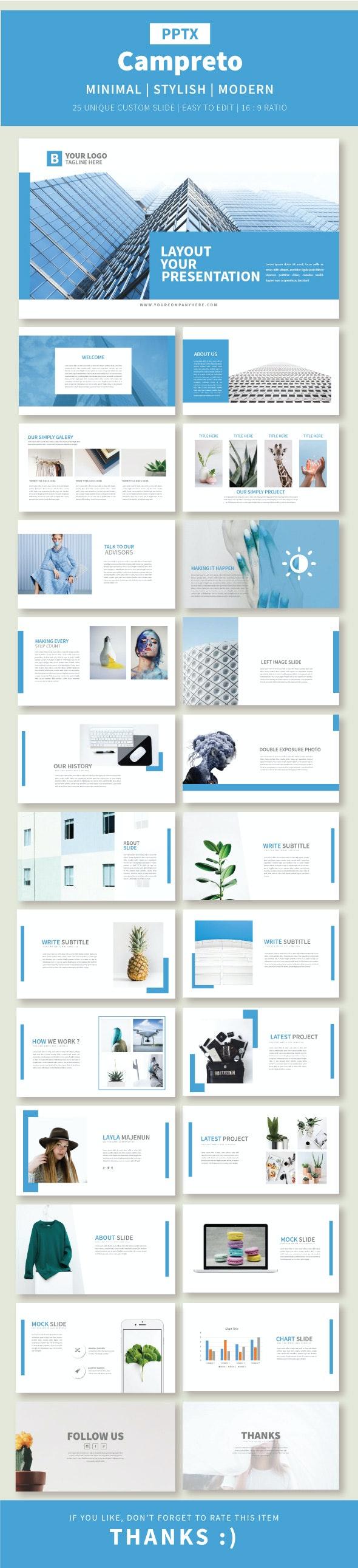 Campreto Presentation Template - Business PowerPoint Templates