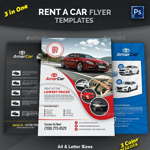 Rent a Car Flyer Bundle