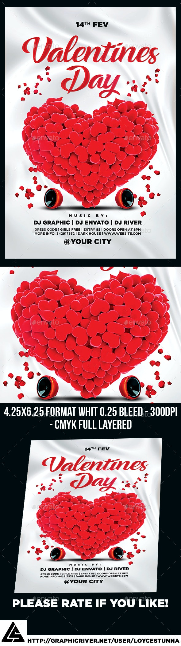 Valentines Day Flyer Template - Print Templates