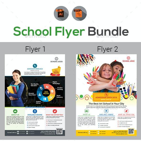 Education | School | Admission Flyers Bundle