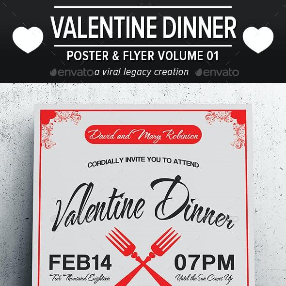 Valentine Dinner Poster / Flyer V01