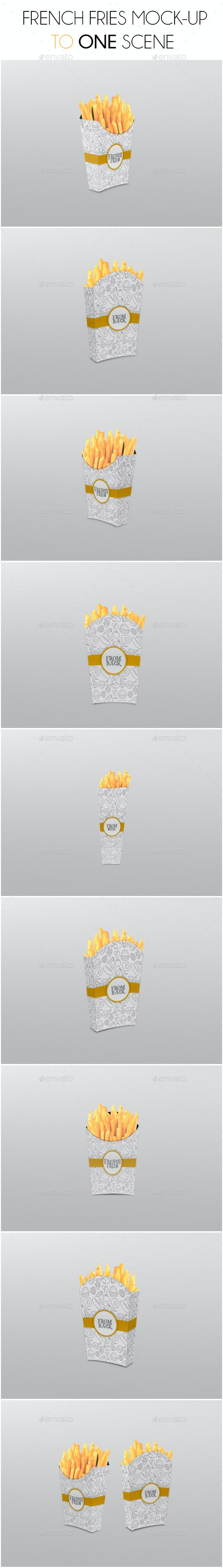 French Fries Mockup - Food and Drink Packaging
