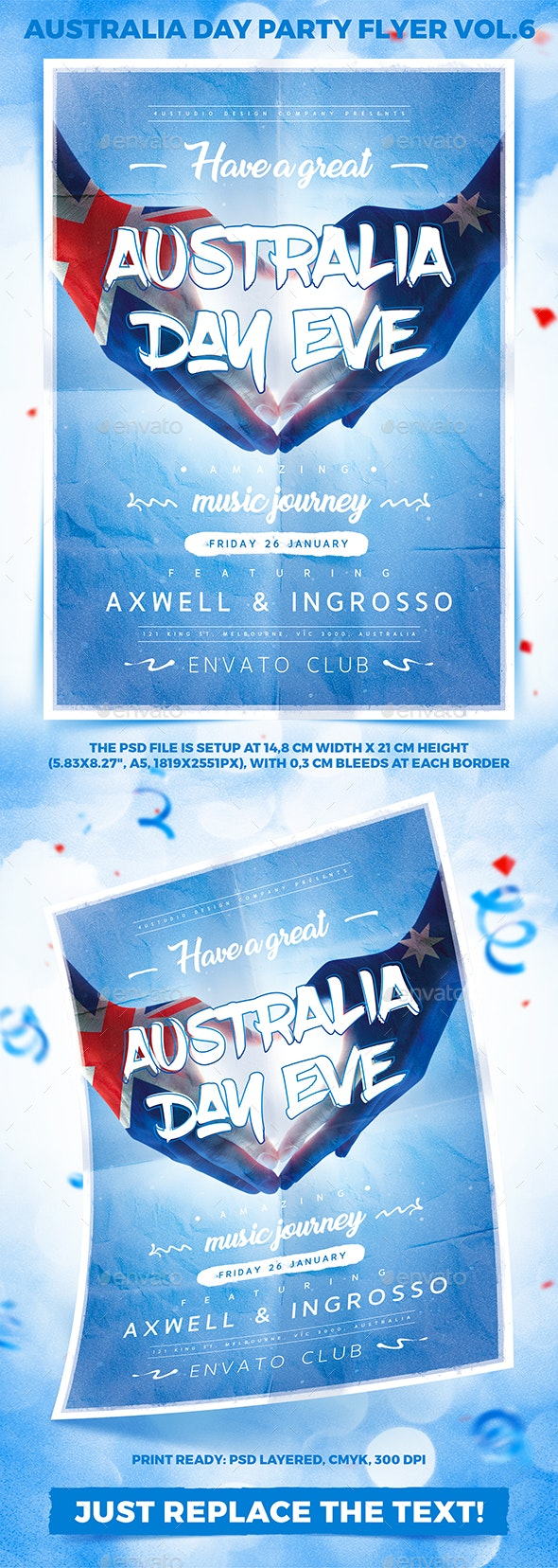 Australia Day Party Flyer vol.6 - Holidays Events