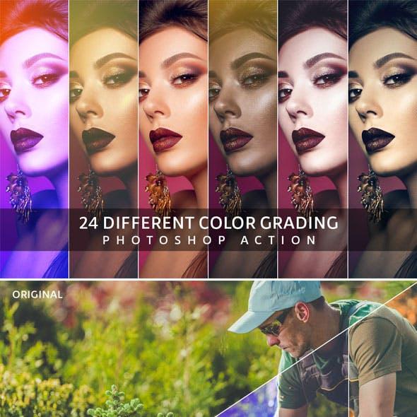 Color Grading Photoshop Action