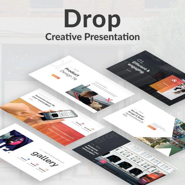 Drop Creative Powerpoint Template