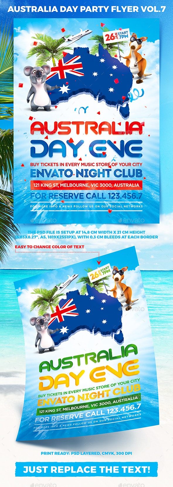 Australia Day Party Flyer vol.7 - Holidays Events