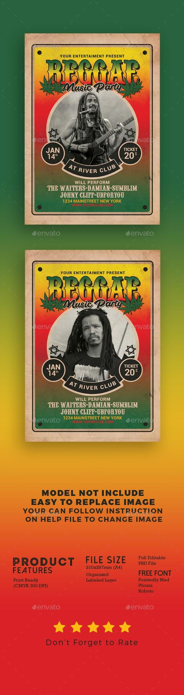 Reggae Music Flyer - Events Flyers