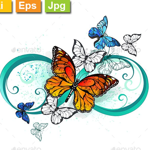 Infinity with Orange Butterfly