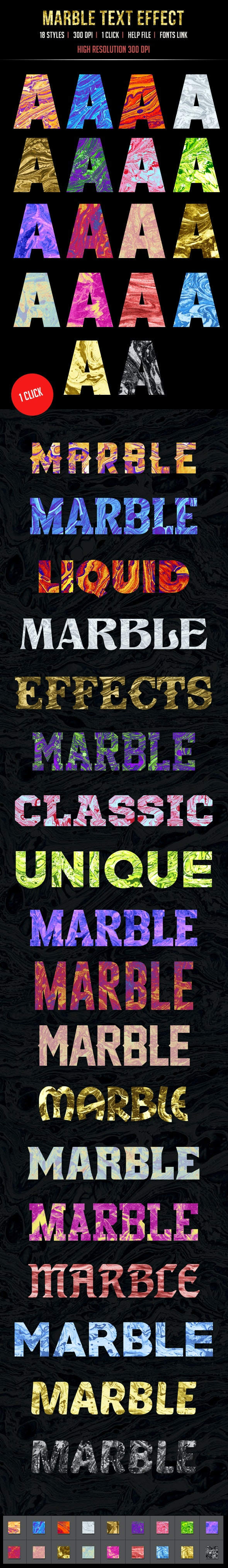 18 Marble Text Effects - Text Effects Styles