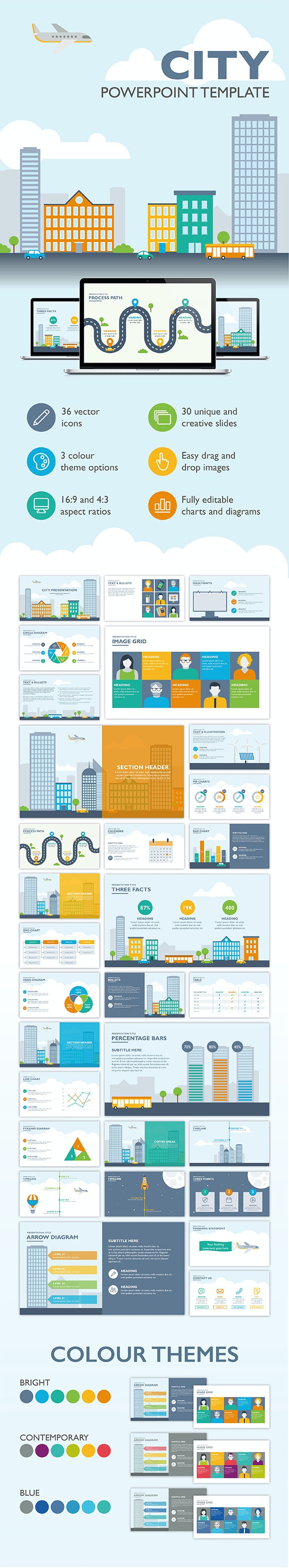 City PowerPoint Template - PowerPoint Templates Presentation Templates
