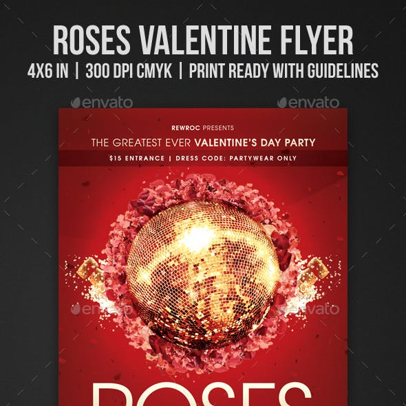 Roses Valentine Flyer