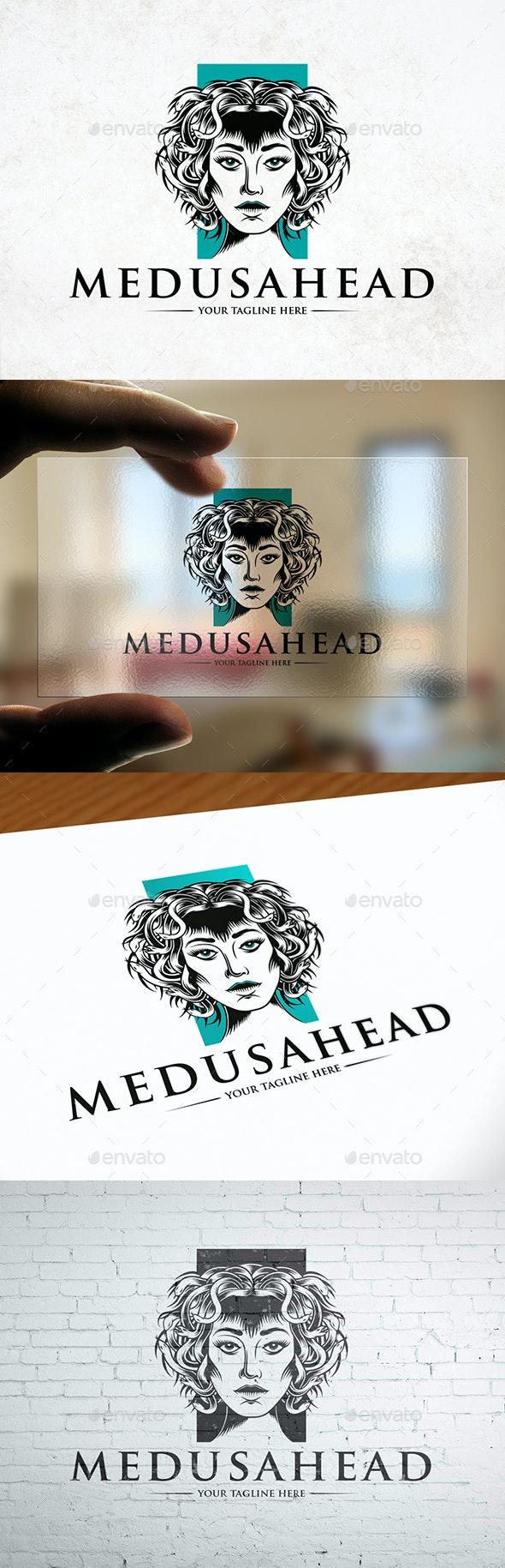 Medusa Head Logo Template