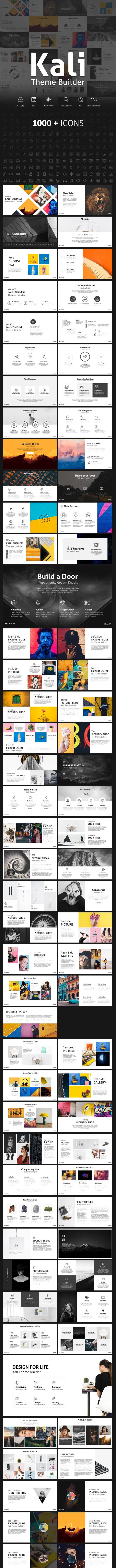Kali Theme Builder - Minimal Presentation Template - PowerPoint Templates Presentation Templates