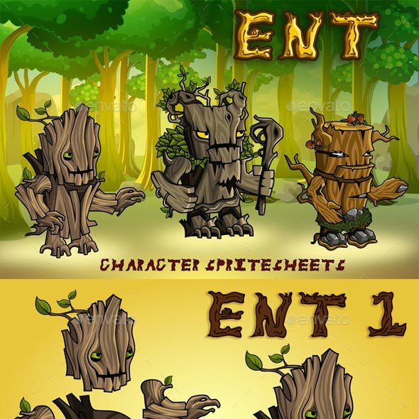 Ent 2D Game Character Sprite Sheet