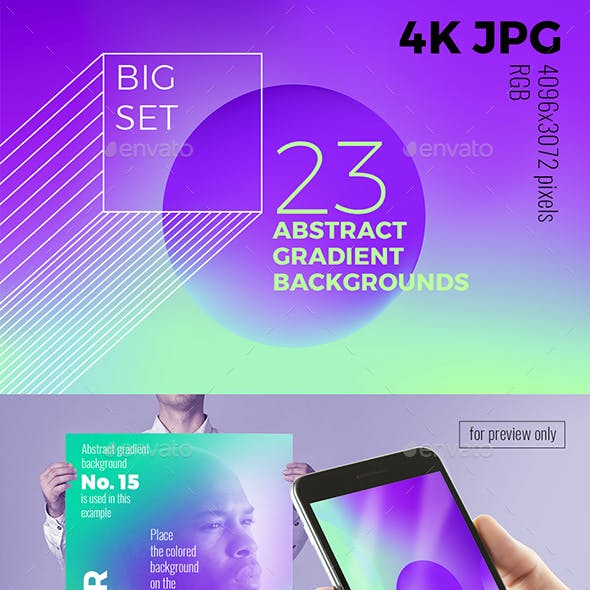 A Set of Abstract Backgrounds for Web Design and Prints