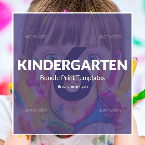 Kindergarten – Bundle Print Templates 6 in 1