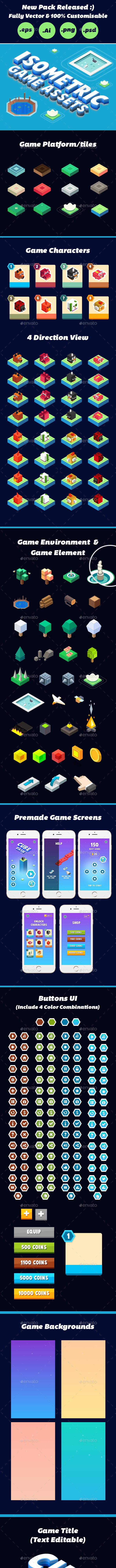 Isometric Complete Game Ui - Game Kits Game Assets