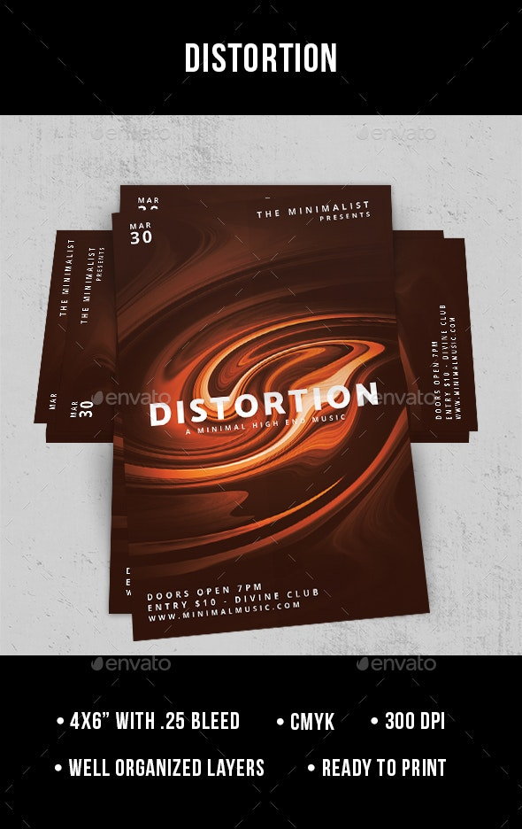 Distortion - Flyer - Clubs & Parties Events