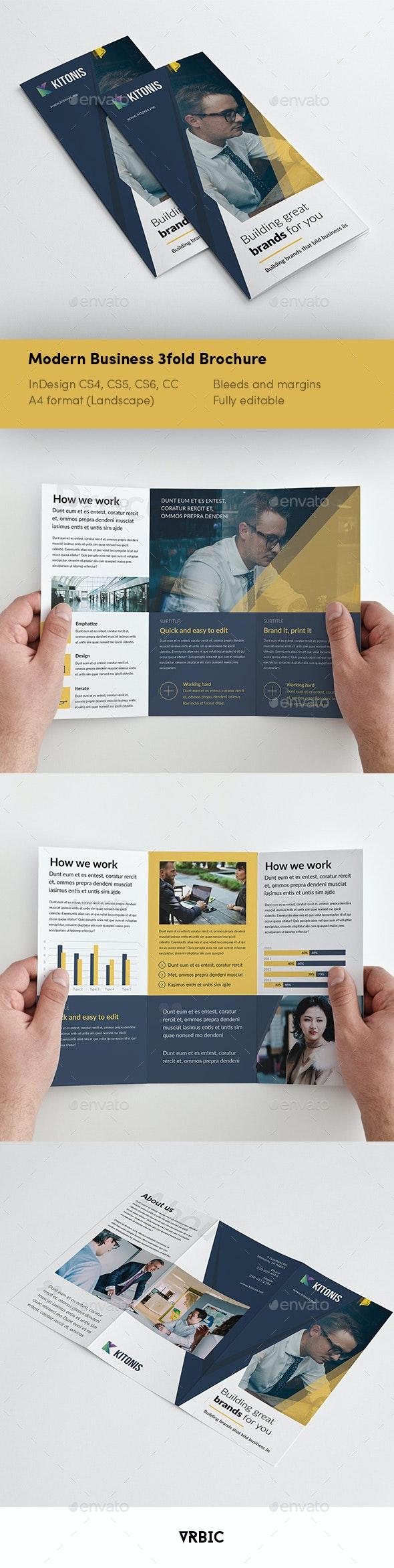 Modern Business 3 fold Brochure - Brochures Print Templates