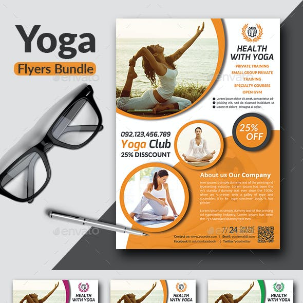 Yoga Flyers Bundle template