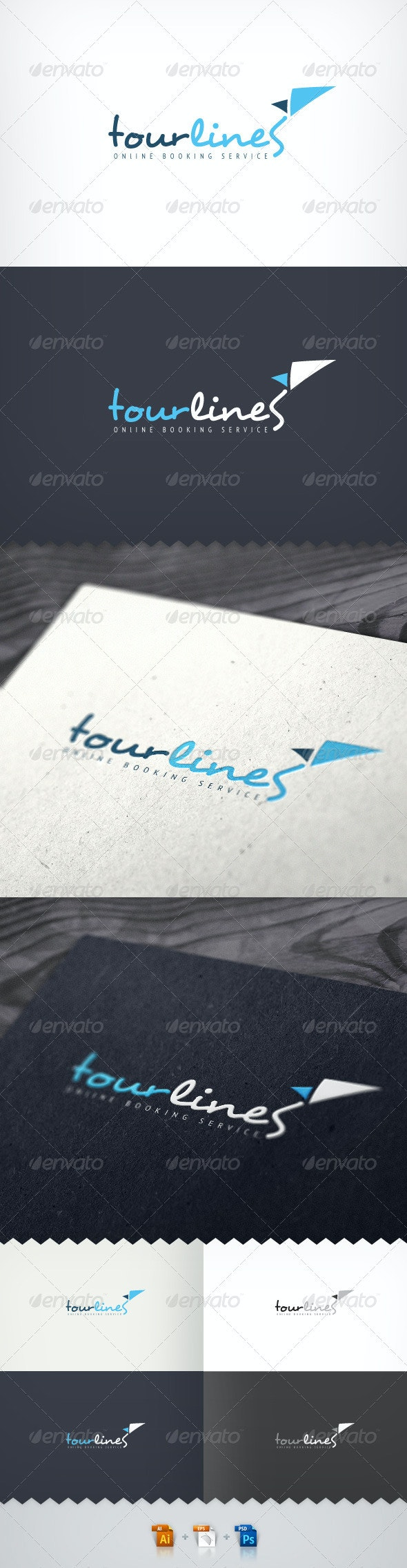 Tour Lines Online Booking Service Logo - Objects Logo Templates