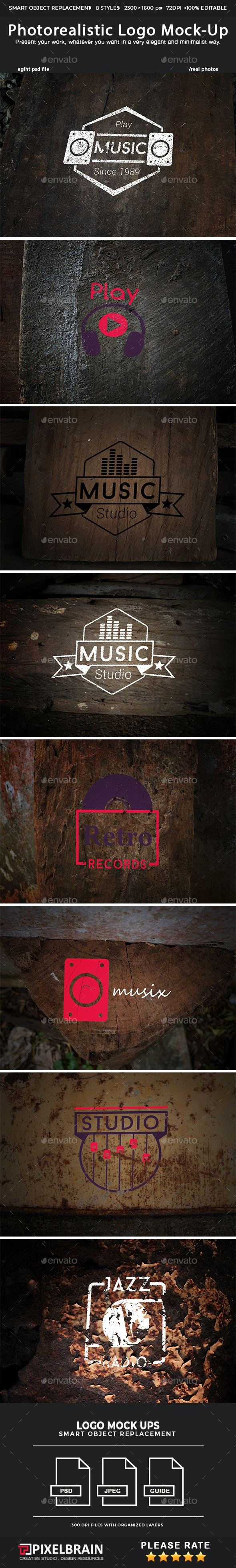Photorealistic Logo Mock-Up Pack 3 - Logo Product Mock-Ups