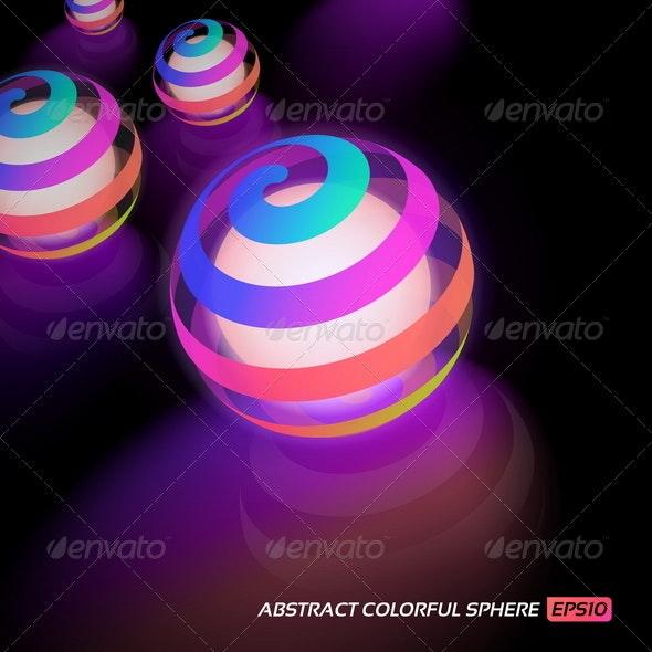 Abstract Colorful Balls - Abstract Conceptual