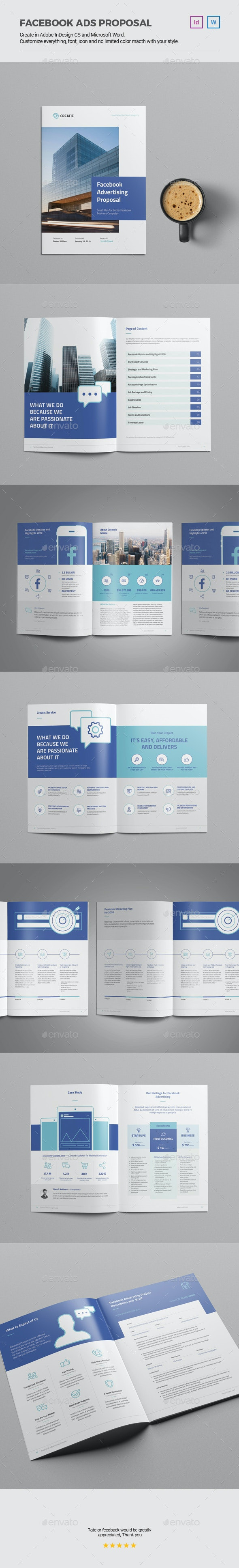 Facebook Advertising Proposal - Proposals & Invoices Stationery
