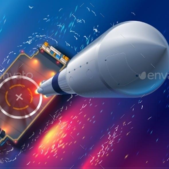 Rocket Launch on Autonomous Spaceport Drone Ship